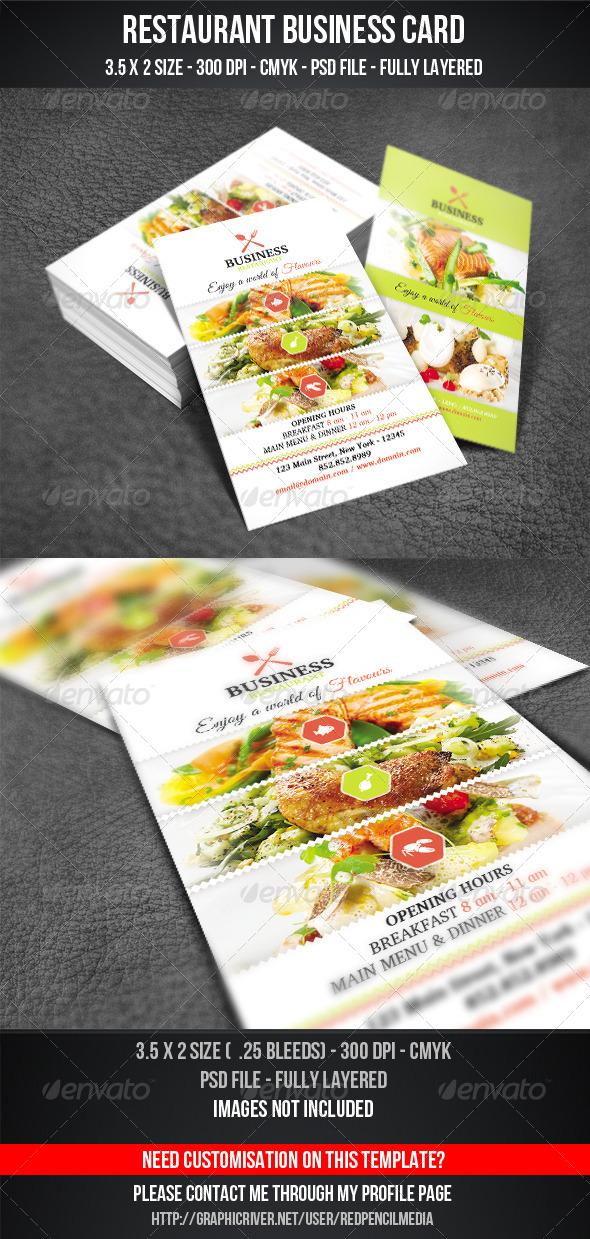 GraphicRiver Restaurant Business Card 7287744