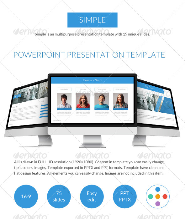 GraphicRiver Simple Powerpoint Presentation 7412773