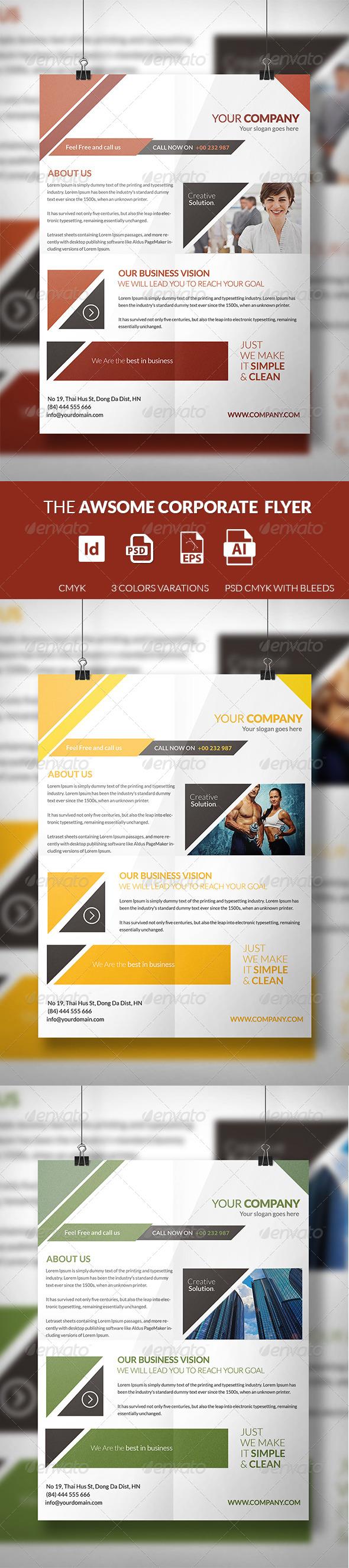 GraphicRiver The Awsome Corporate Flyer Template 7433186