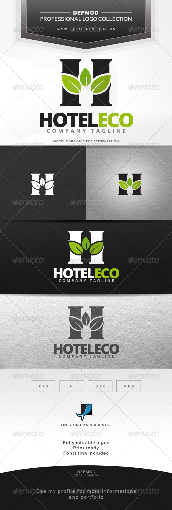 GraphicRiver Hotel Eco Logo 7433483
