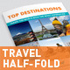 Travel Half-fold / Bi-fold Brochure  - GraphicRiver Item for Sale