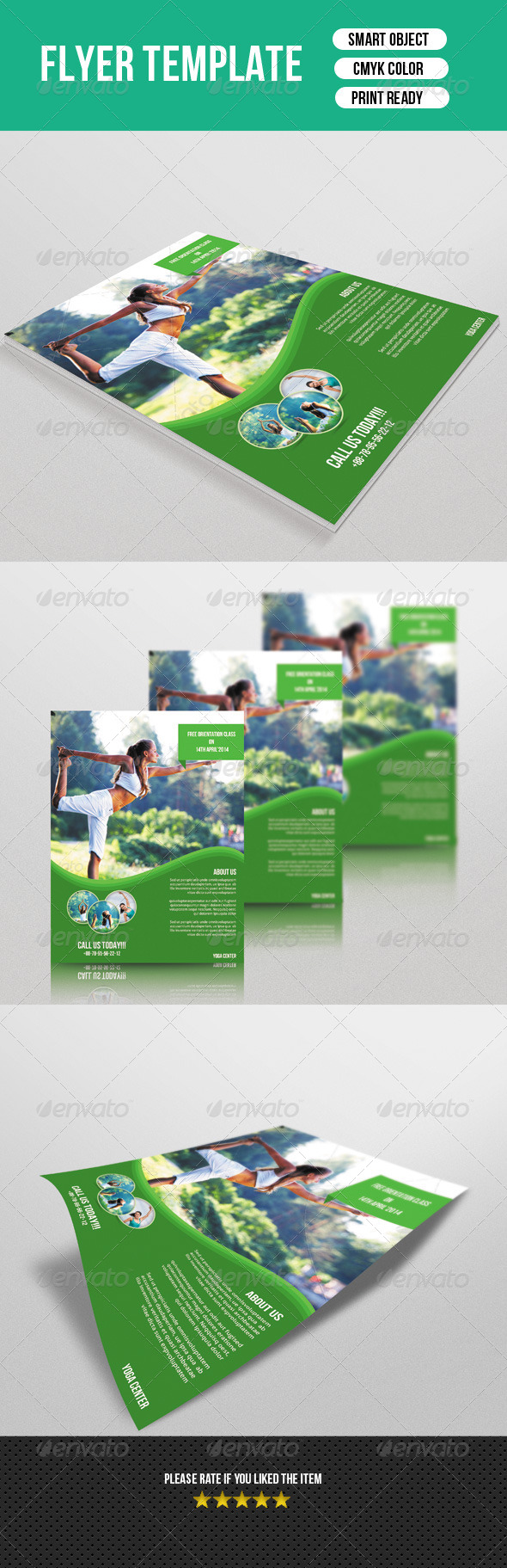 GraphicRiver Yoga Flyer 7434006