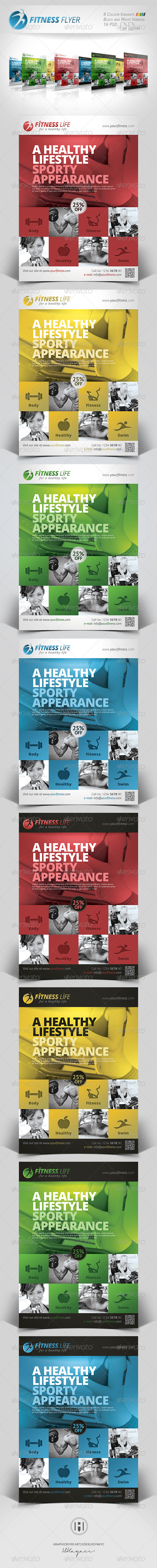 GraphicRiver Fitness Sports Business Flyer 7422713
