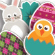Easter Stickers - GraphicRiver Item for Sale