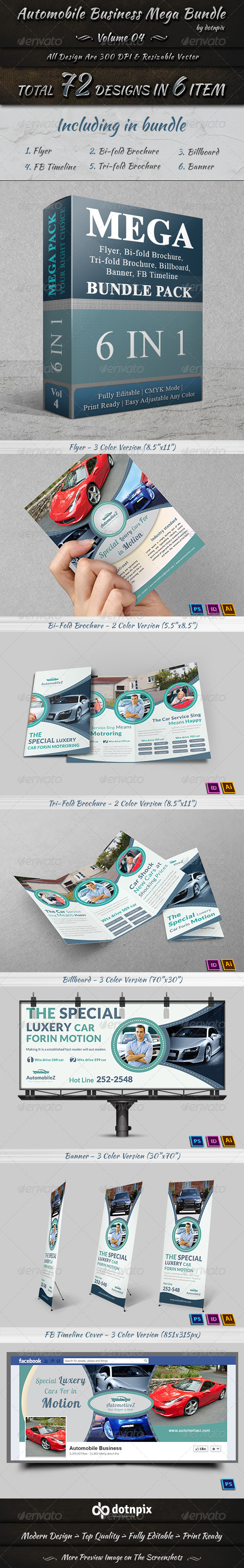 GraphicRiver Automobile Business Mega Bundle Volume 4 7434375