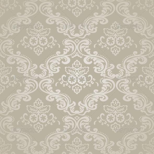 GraphicRiver Damask Vintage Floral Seamless Pattern 7434450
