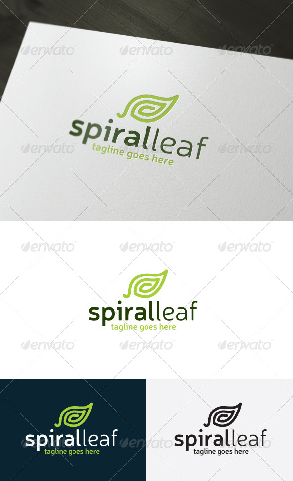 GraphicRiver Spiral Leaf Logo 7434459