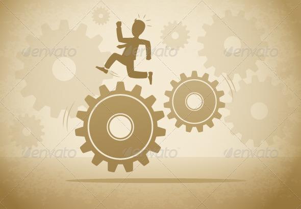 GraphicRiver Gear Run 7434477