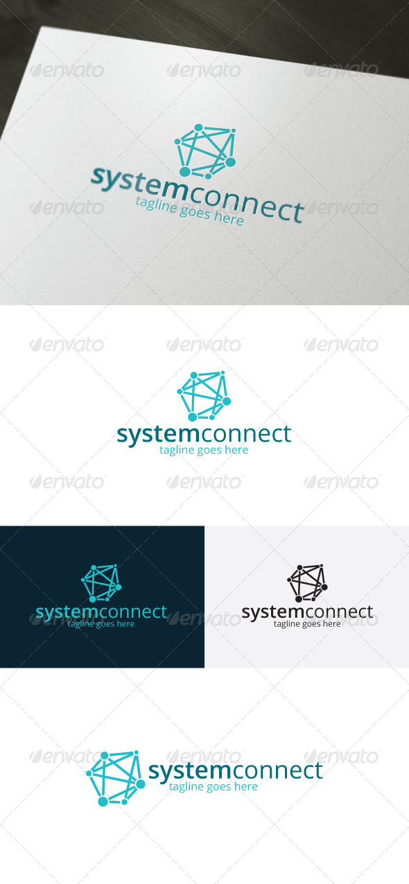 GraphicRiver System Connect Logo 7434479