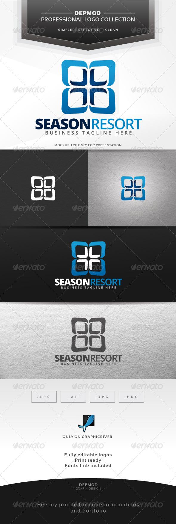 GraphicRiver Season Resort Logo 7434656