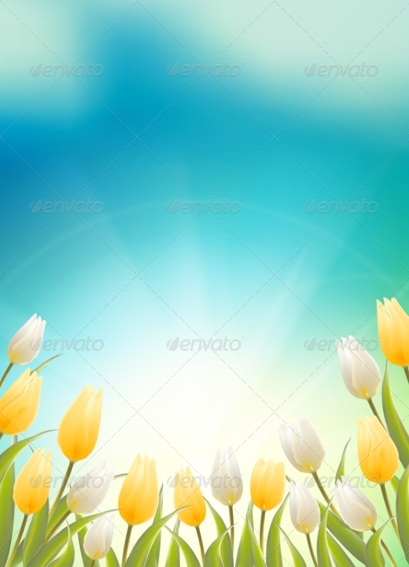 GraphicRiver Tulips Background 7434804