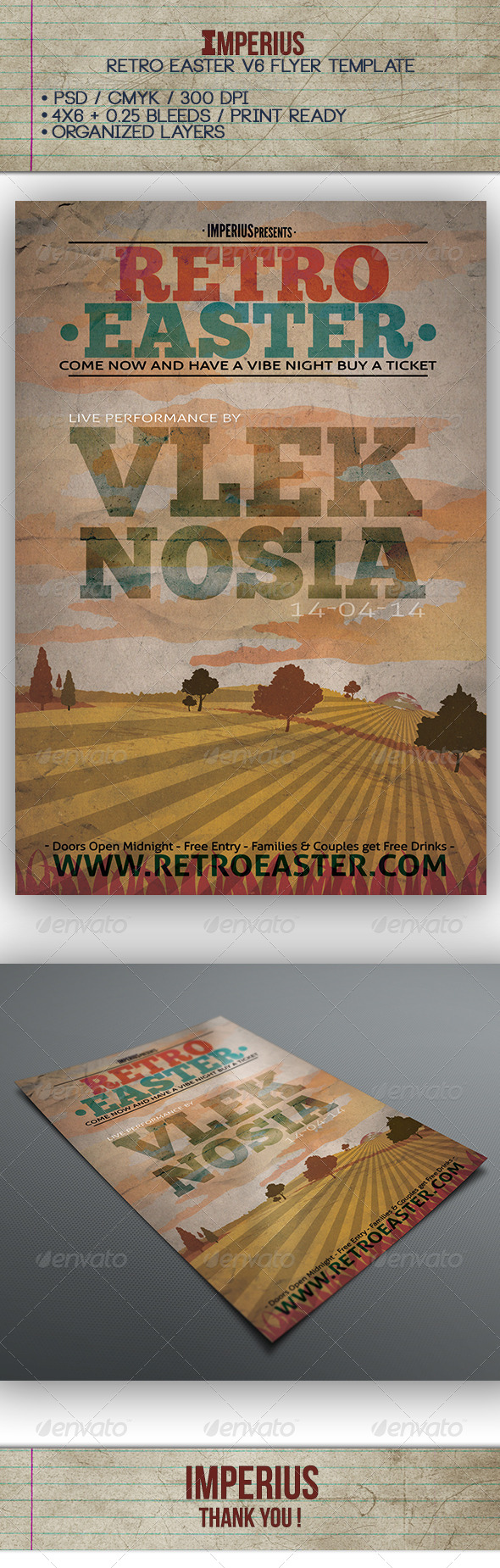 GraphicRiver Retro Easter V6 7435281