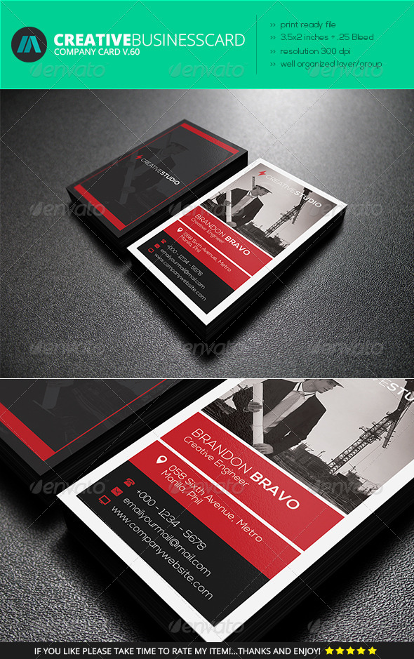 GraphicRiver IntenseArtisan Business Card Vol.60 7423750