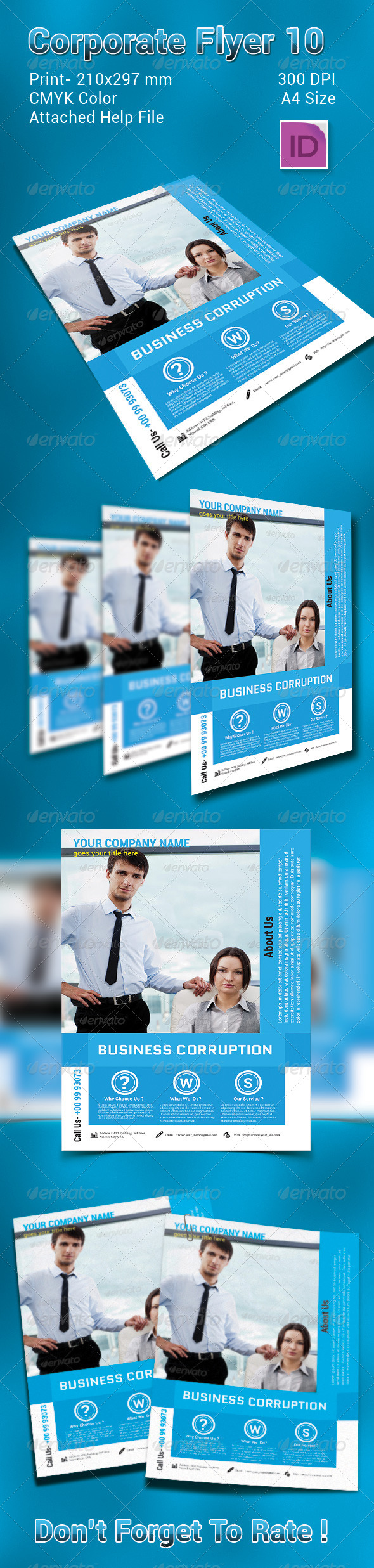 GraphicRiver Business Corruption Flyer 7435704