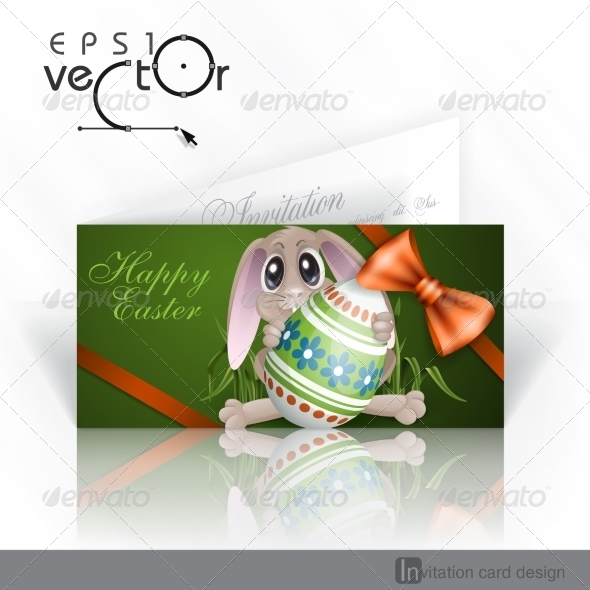 GraphicRiver Easter Bunny with Colorful Egg 7436368