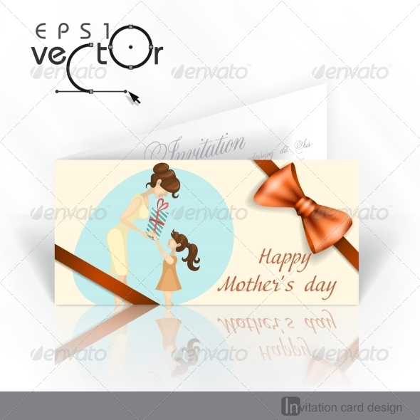 GraphicRiver Daughter Gives Mom a Gift for Mother s Day 7436416