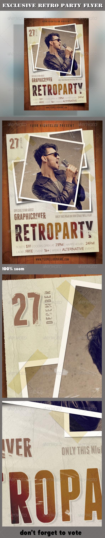 GraphicRiver Retro Party Flyer 02 7436655