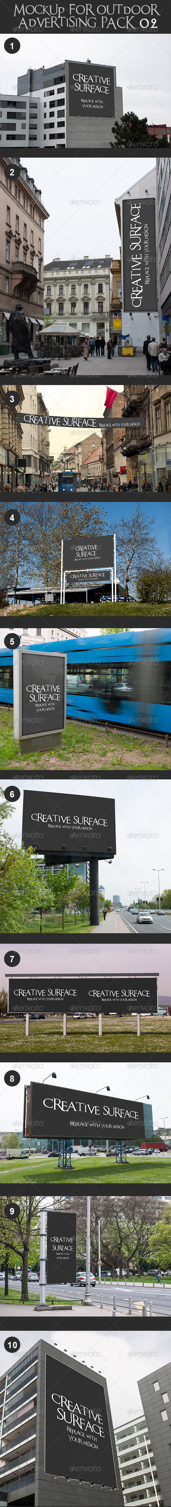 GraphicRiver 10 Mock Up s for Outdoor Advertising Pack 2 7423055