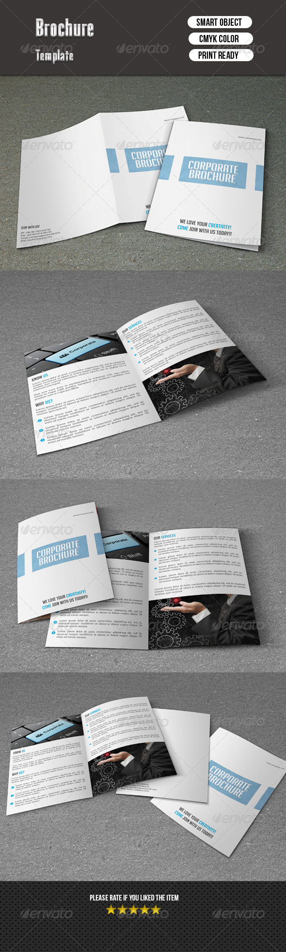GraphicRiver Minimal Bifold Corporate Brochure 7384889