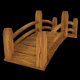 Low Poly Wooden Bridge (Gardens, Parks, Game Asset - 3DOcean Item for Sale