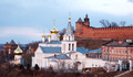 Panoramic spring april view church and Kremlin Nizhny Novgorod Russia - PhotoDune Item for Sale