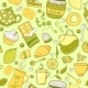 Tea and Sweets Pattern - GraphicRiver Item for Sale
