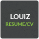 Louiz - CV/Resume Responsive Template + 3 Bonuses - ThemeForest Item for Sale