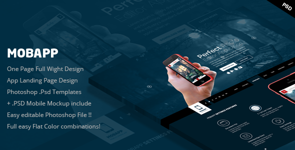 ThemeForest MobApp One Page App Landing Page 7392494