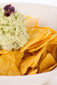 Crisp corn nachos with guacamole sauce - PhotoDune Item for Sale