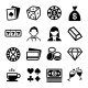 Gambling and Casino Icons Set. Vector - GraphicRiver Item for Sale