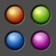 Design Elements Color Buttons and Bulbs - GraphicRiver Item for Sale