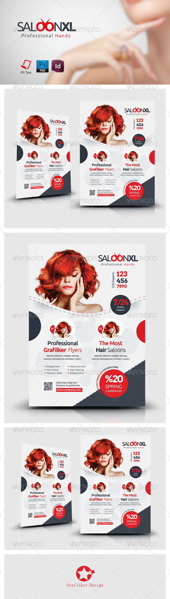 GraphicRiver Beauty Saloon Flyer Templates 7440990