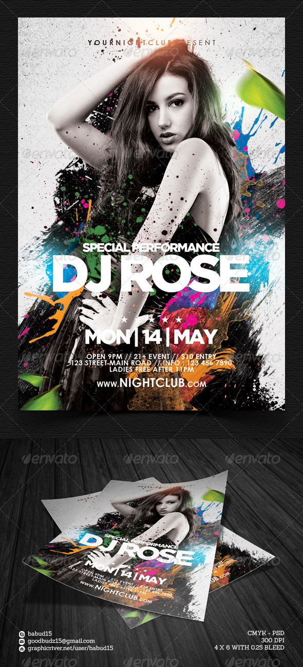 GraphicRiver Guest DJ Flyer Template Vol 2 7433287