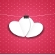 Valentines Day Paper Heart Background - GraphicRiver Item for Sale