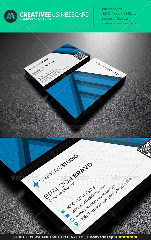 GraphicRiver IntenseArtisan Business Card Vol.53 7441762
