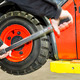 Chaning a forklift tyre - PhotoDune Item for Sale
