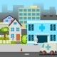 Cartoon Street Hospital - GraphicRiver Item for Sale