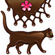 Chocolate Flower Decor and Cat - GraphicRiver Item for Sale