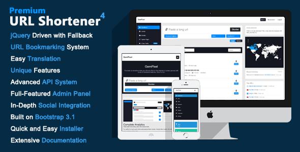CodeCanyon - Premium URL Shortener v4.0