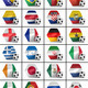 Soccer balls with all national flags of the world championship - PhotoDune Item for Sale