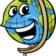 globe character cartoon illustration - PhotoDune Item for Sale