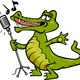 singing crocodile cartoon illustration - PhotoDune Item for Sale