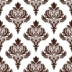 Brown Damask Seamless Pattern Background - GraphicRiver Item for Sale