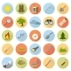 Flat Icons of Camping - GraphicRiver Item for Sale