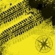 Yellow Tire Tracks with Wind Rose - GraphicRiver Item for Sale