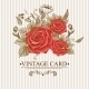 Vintage Floral Card with Roses and Butterflies. - GraphicRiver Item for Sale
