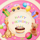Birthday Card with Birthday Cake - GraphicRiver Item for Sale