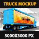 Truck Mockup 5K 2014 - GraphicRiver Item for Sale