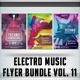 Electro Music Flyer Bundle Vol. 11 - GraphicRiver Item for Sale