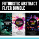 Futuristic Abstract Electronic Vol.1 Flyer Bundle - GraphicRiver Item for Sale